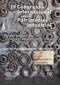 III Congreso internacional Patrimonio Industrial Lisboa 2016