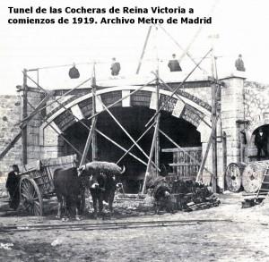 Tunel-de-las-Cocheras-a-comienzos-de-1919.Archivo-Metro-de-Madrid